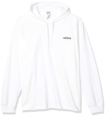 adidas Herren Over-The-Head Pullover, Herren, Sweatshirt, Mens Essential Single Jersey Over The Head, weiß / schwarz, X-Large
