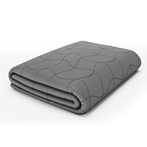 Dr. Hart's Weighted Blanket Deluxe Set Queen Size | Patented ContourWave with Luxurious Microplush Removable Cover | 15 lbs 60x80 | Heavy Anti Stress Blanket for Adults