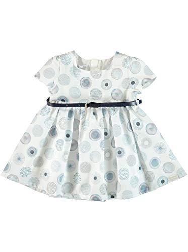 Monna Rosa Milano Peuter Baby Meisje%100 Katoen Zomerjurk met Riem Accessoire Geschikt voor 6-24 Maanden Casual Ceremony Stijlvolle Premium Outfit