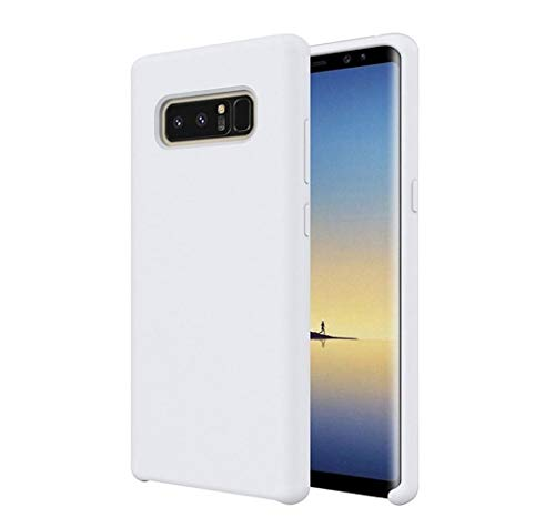 Luhuanx Samsung Galaxy Note 8 Case,[Romance Series] Liquid Silicone Rubber Shockproof Case Soft Microfiber Cloth Lining Cushion Compatible with Galaxy Note 8 Case(Silicone-White)