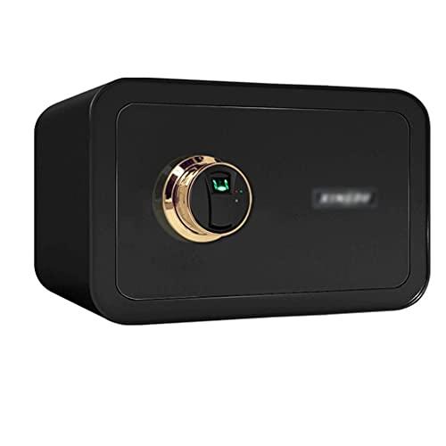 Safes Security, pequeño armario de almacenamiento con sistema de alarma caja de efectivo, multicolor -35 x 25 x 28 cm, caja de seguridad, color azul