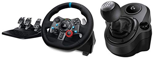 Logitech G29 Driving Force Racing Wheel and Floor Pedals, Real Force, Stainless Steel Paddle...