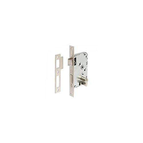 Tesa Assa Abloy, 20104PHN, Cerradura de Embutir para puertas de madera, Función de entrada, Acero Niquelado