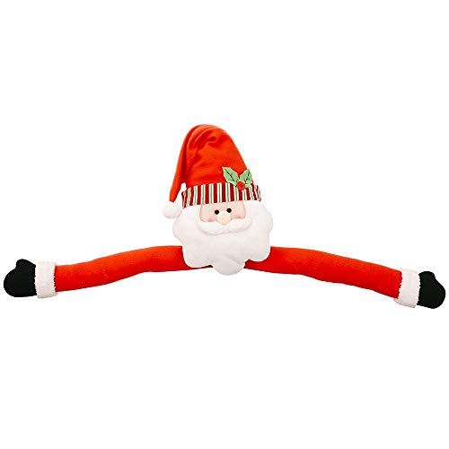 New Snowman Christmas Santa Claus Tree Topper Hu g Xmas Indoor Decoration Gifts Home & Garden Home Decor Red