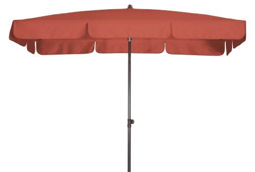 Doppler Absolut wasserdichter Gartenschirm Waterproof 185x120 UV-Schutz 80, Farbe Terracotta