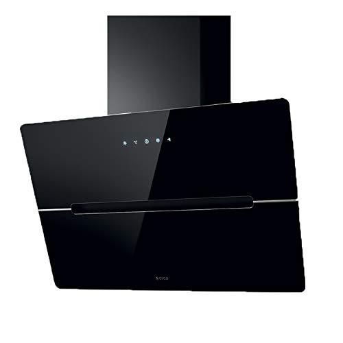 Dunstabzugshaube Elica WISE BL/A60, 60 cm, Glas schwarz, mit Touch-Control, LED, 4 Stufen
