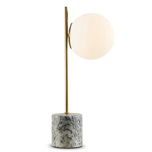 Yxsd hanglamp met glazen bol, plafondlamp, slaapkamerlamp, eenvoudig nachtkastje, modern, bureaulamp, marmer, messing, leeslampen