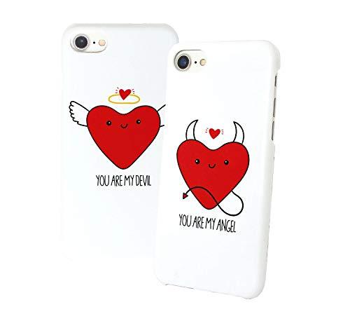You are My Angel Devil - Carcasa para Samsung Galaxy S9, diseño de pareja con texto en inglés 'Best Friend', color blanco