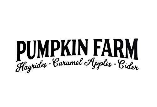 Pumpkin Farm Hayrides Caramel Apples Cider Vinyl Decal Fall Halloween DIY Craft Decal Pumpkin Decal