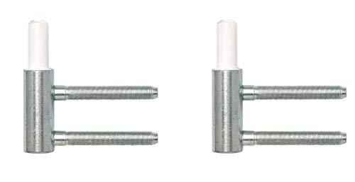 Gedotec Einbohrband Variant-Rahmenteil V 3400 WF für Drehtüren | Stahl verzinkt | Anschlag DIN links & rechts | Tragkraft 40 kg | 2 Stück - Türbander für Zimmertüren - Innentüren an Holz-Zargen