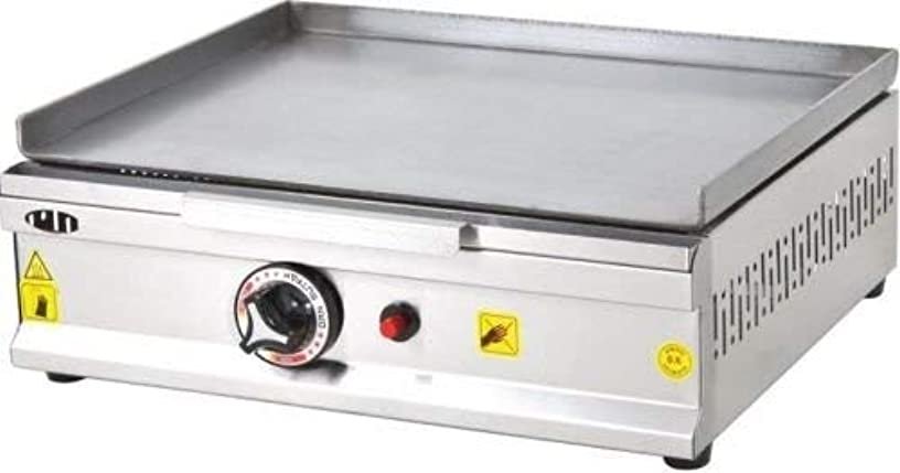 Professional 20 '' (50 cm) Propane LPG Gas Commercial Kitchen Equipment Countertop Tabletop Flat Top Grill Restaurant Industrial Catering Grill Hot Plate for Cooking Cooktop Manual Griddle