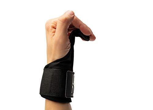 LEGEND Power-Zughaken für Profis | Powerlifting Zughilfen | Neue und verbesserte Version 2.0 | 2er Set | Handgelenk Bandagen für Fitness Training | Trainingshandschuhe für Damen und Herren