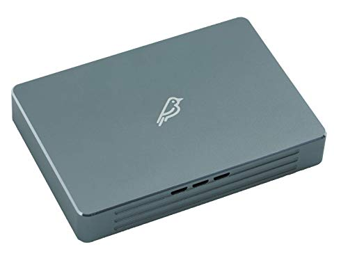 Fledging Shell Thunder SSD Enclosure (1TB) with Active Cooling for TB3 - PCIe NVMe Portable External Enclosure m2 to TB3