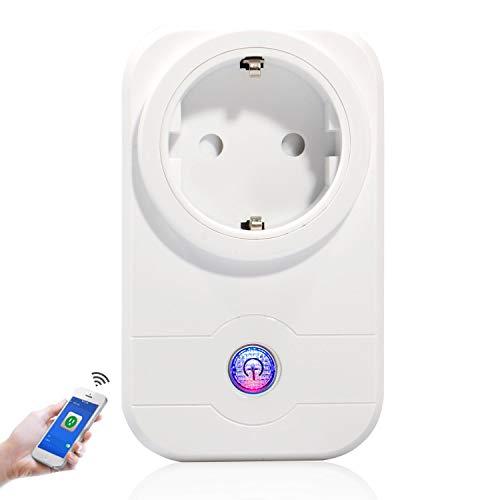 Expower wifi-stopcontact, intelligent draadloos stopcontact, compatibel met Amazon Alexa Echo Plus Echo Dot en Google Home-app-besturing, timer voor iOS en Android, voor thuis en op kantoor 1er