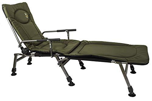Angelstuhl Campingstuhl Carp F5R+POD Stuhl mit Fussbank Deluxe Karpfen Angler mit extra Höhe