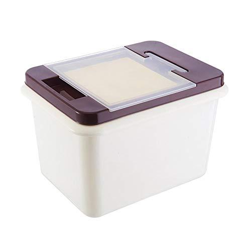 Qaz Flip ménages Riz Rangement Cuisine Plastique Riz Boîte 10 kg humidité Alimentaires Légumes Riz Stockholders Boxed Boîte de Rangement 29 * 20 * 22cm (Color : C, Size : 29 * 20 * 22cm)