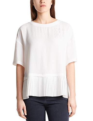 Marc Cain Sports Damen MS 55.03 W41 T-Shirt, Mehrfarbig (Off-White 110), 38 (Herstellergröße: 3)