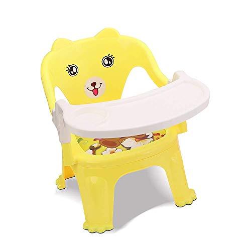 WYJW Kinderen Baby's Baby Eten Tafel Eettafel Voeding Stoel Eettafel Draagbare Kind Eettafel Opvouwbare Kinderstoel Terug Stoel Kleine Kruk Kinderdiner Tafel (Kleur: Blauw)