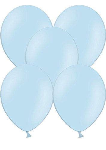 50 Luftballons Ø 28 cm Farbe frei wählbar Ballons Helium Luftballon (Hellblau)