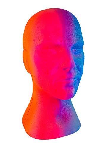 PSYWORK Schwarzlicht Deko Kopf Glowhead Multicolor