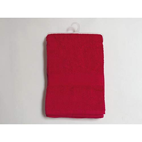Soleil d'ocre 443101 Douceur Drap de Bain Coton Rouge 100 x 140 cm