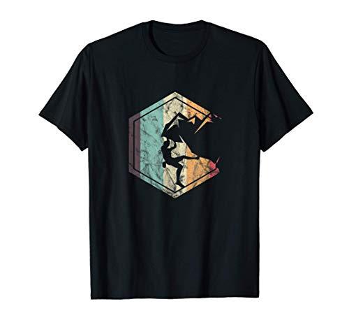 Impresionante escalada en roca Escalador de montaña retro Camiseta