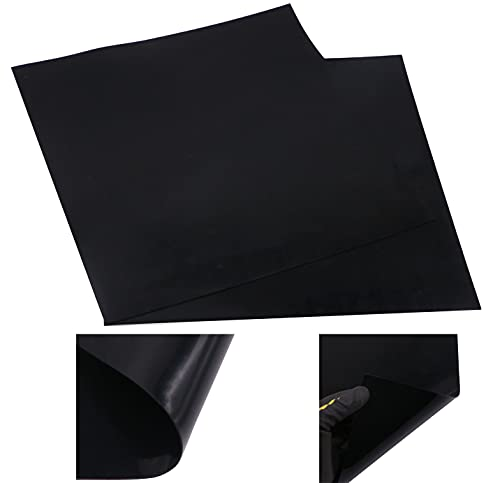 2 PcsBlack Heat Resistant Rubber Pad Thin Silicone Grade Rubber Gasket Sheet,12 by 12 inch by 1/25 Inch,Thick Gaskets DIY Material,Bumpers, Protection, Abrasion, Flooring