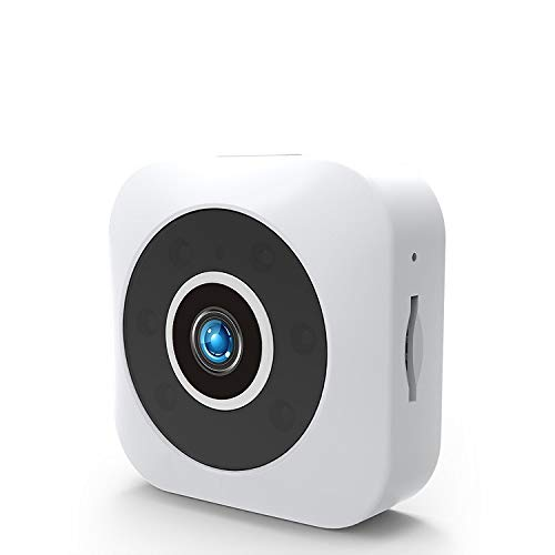 QUWN-Vigilancia Digital Inalámbrica WiFi De La Cámara De Red Inteligente Cámara De Interior De Alta Definición Monitor Remoto De Detección De Movimiento 1080P Blanca