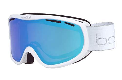 Bollé Sierra skibrillen, uniseks, volwassenen, wit & zilver Shiny, small medium