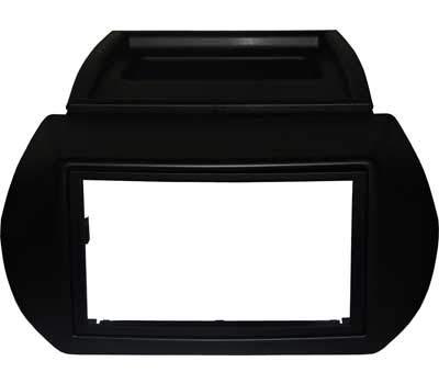 Mascherina fissaggio radio 2 DIN NERO ANTRACITE. Vedi sotto per compatibilità veicoli.