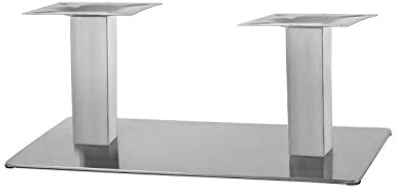 Couchtischgestell aus Edelstahl 41cm Doppelt Modellreihe Q  Beistelltisch Tischgestell Wohnzimmertisch Tischfu