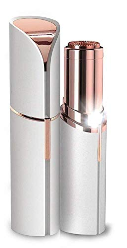 Qwebars Women's Portable Safe Battery Operated Electric face Trimmer Facial Hair Remover, Rose Gold Hair Remover Machine (Trimmer)