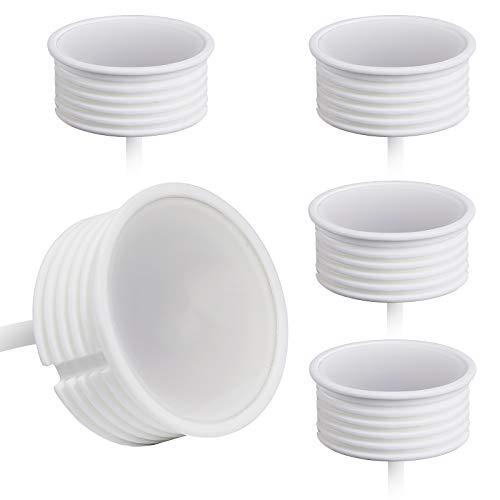 5x LED Spot Modul 230V 5 Watt Ø50mm Keramik Dimmbar für Einbaustrahler Einbauleuchten 22mm flach Ersatz für GU10 MR16 Leuchtmittel | Warmweiß 3000K