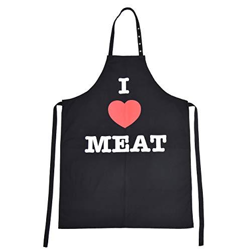 BBQ TIME Grillschürze, Schürze für Männer und Frauen, extra Lange Kochschürze mit verstellbarem Nackenband, Küchenschürze zum Grillen in vielen schönen Designs erhältlich