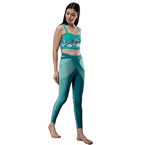 The Active Story Women's StylishSea Cross Track Pants (Green,Medium)