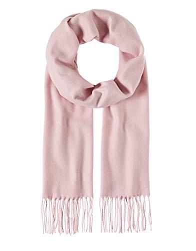 Vincenzo Boretti Herren Damen Schal uni einfarbig klassisch modern elegant edel warm leicht fein Herrenschal mit Fransen, weich wie Kaschmir rosa