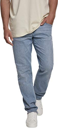 Urban Classics Relaxed Fit Jeans Pantalon Homme, Bleu (Lighten Wash 02294), 40/34