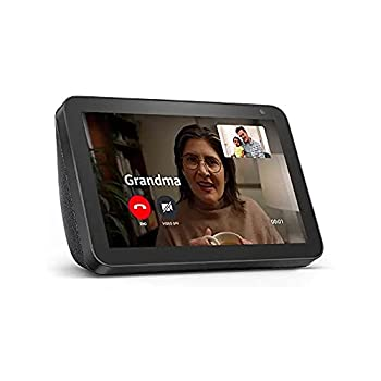 Echo Show 8  1st Gen 2019 release  -- HD smart display with Alexa – Unlimited Cloud Photo Storage – Digital Photo Display - Charcoal