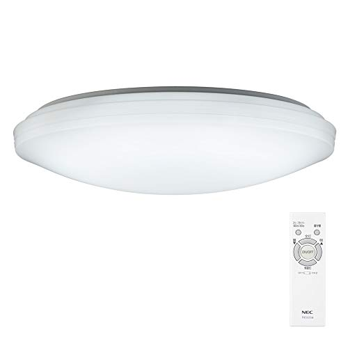 NEC LEDシーリングライト ~8畳 (日本照明工業会基準) 3800lm 調光タイプ 常夜灯 リモコン かんたん留守タイマー機能 日本製 HLDZ08209