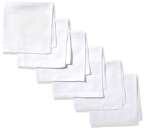 Dockers Men's 13 Piece Permanent Press Hankies,White,One Size