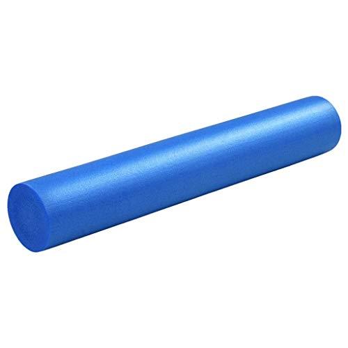 Festnight Rodillo de Yoga Espuma EPE Azul 15X90 Cm para Casa, Gimnasio, Trabajo, Rodillo para Pilates, Rodillo de Espuma Multiusos para Yoga