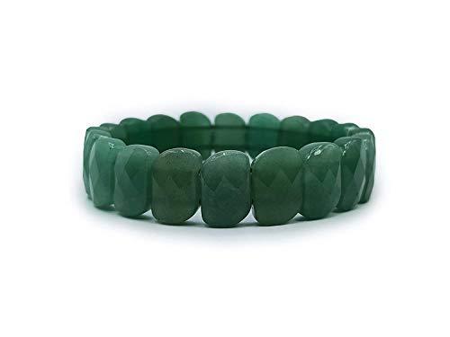 Plusvalue New Green Aventurine Bracelet for Better Job Opportunities Increase Prosperity with Jute Bag (Single Piece)