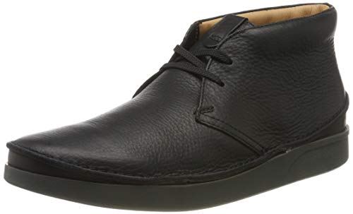 Clarks, Stivaletti Uomo, Nero (Schwarz (Black Leather Black Leather)), 41.5 EU