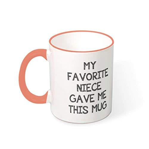 O1FHW-8 11 Oz Wasser Kaffee Becher mit Griff Porzellan Glossy Becher - Chanukka Gegenwart, Anzug für Haus verwenden Persimmon 330ml
