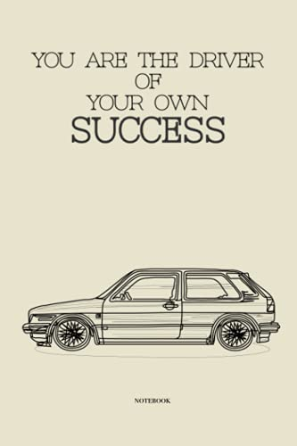 Volkswagen Golf Mk2 GTI Dotted Notebook, 120 Dotted Grid Pages, 6 x 9 inch   Success, Classic Cars, Motivation