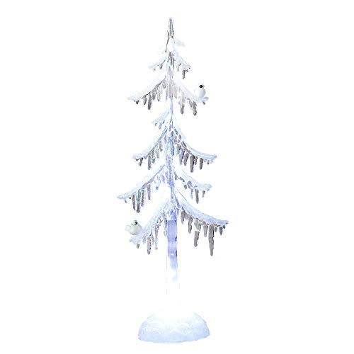 Formano Deko-Baum aus Acryl mit LED-Licht, 45 cm, 1 Stück, Weiß