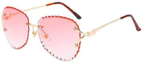 ZYIZEE Gafas de Sol Gafas de Sol sin Montura Mujeres S Marcas Lentes Transparentes Oversized Vintage Shades Gafas de Sol para Mujeres Gafas Transparentes Femeninas-C2_Gradient_Pink