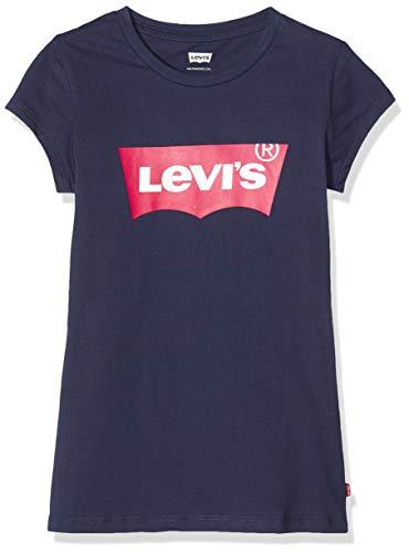 Levi's Kids Mädchen Lvg Ss Batwing T-Shirt, Blau (Peacoat / Tea Tree Pink), 16 Jahre Blau (Peacoat / Tea Tree Pink) 16 Jahre