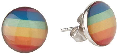 Stainless Steel Fashion Rainbow Ear Stud Earring for Gay & Lesbian Pride