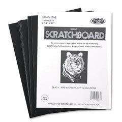 Scratch Art Black Coated Scratchboards 8 1/2 in. x 11 in. pack of 10